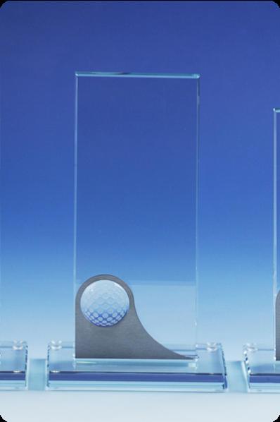 Glasplaat Golftrofee