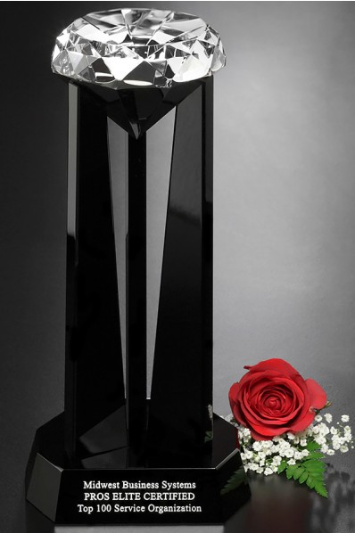 Statuetka szklana