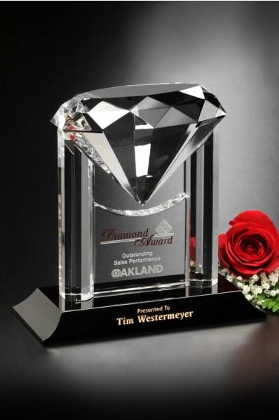 Statuetka szklana - diament